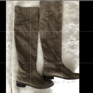 Stuart Weitzman Taupe Over the Knee Flat Boots 6